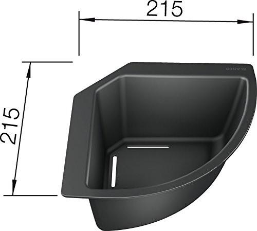 BLANCO Eck-Schale 235866 in Kunststoff schwarz