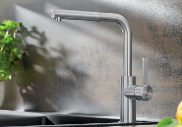 Küchenarmatur BLANCO LANORA-S 523123  Edelstahl gebürstet, HD