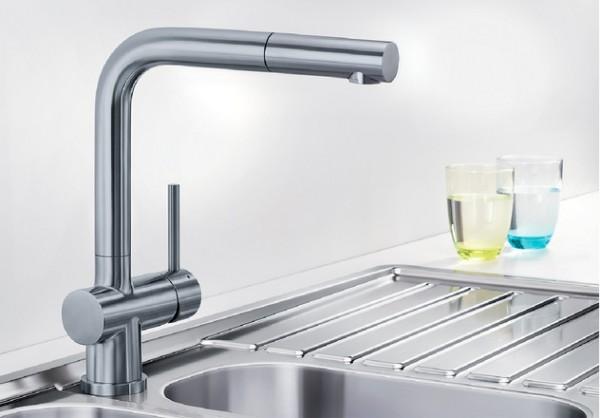 BLANCO LOMIS-S HD Küchenarmatur 518716 Edelstahl gebürstet