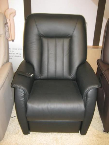 Hukla Sessel RV72 mit motorischer Verstellung und Aufstehhilfe in Torro schwarz