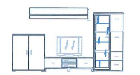Anbauwand Atrium 68YZU3 von Schieder