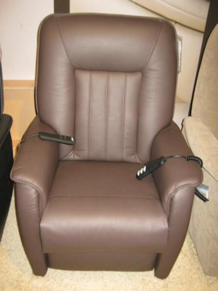 Hukla Sessel RV72 mit motorischer Verstellung und Aufstehhilfe in Echtleder